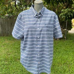 Original Penguin Button Down Striped Shirt L Nwot